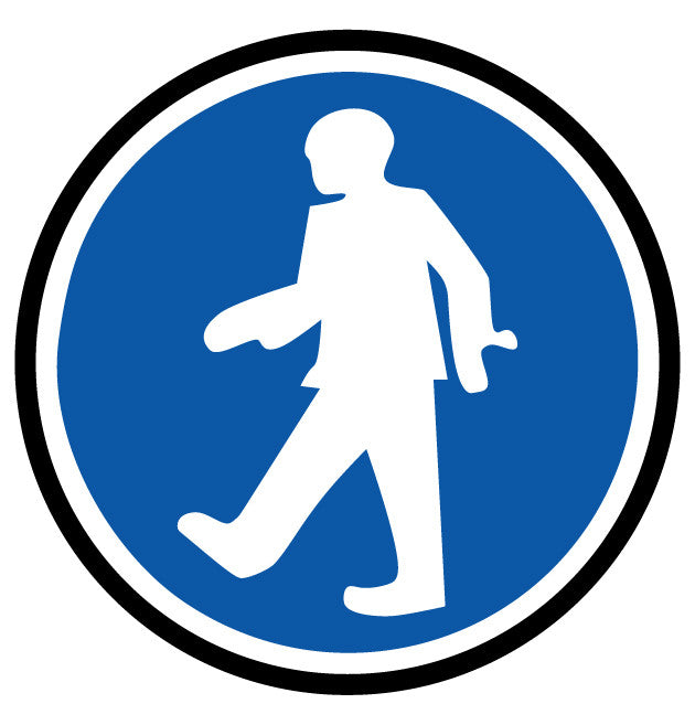 "24"" Walking Permitted Floor Signage"