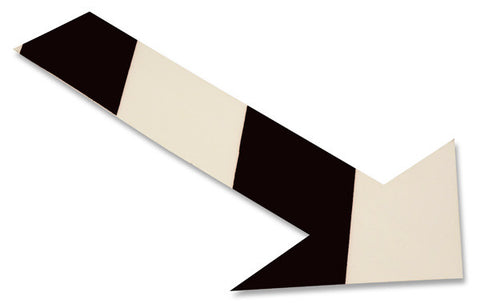 White/Black Chevron Floor Tape Arrows - Pack of 50