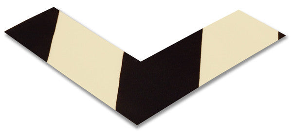 "2"" White/Black Chevron Floor Marking Angles"