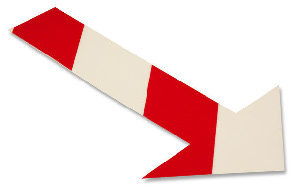 Mighty Line White/Red Chevron Floor Arrow Stickers