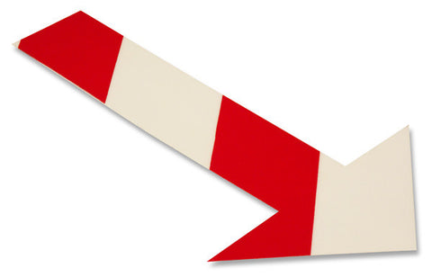 White/Red Chevron Floor Arrow Stickers - Pack of 50