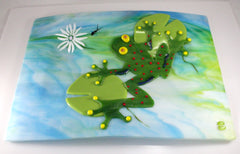 Fused Glass Plate by Charles Grisham
