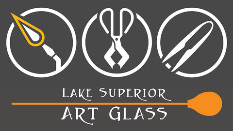 Lake Superior Art Glass is a complete glassblowing studio and gallery with a professional Hot Shop and Flameworking Studio