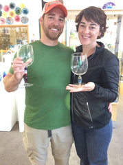 date night wine goblet class