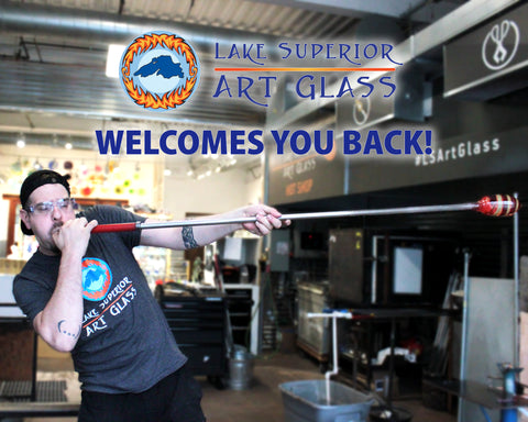 Lake Superior Art Glass Opens back up
