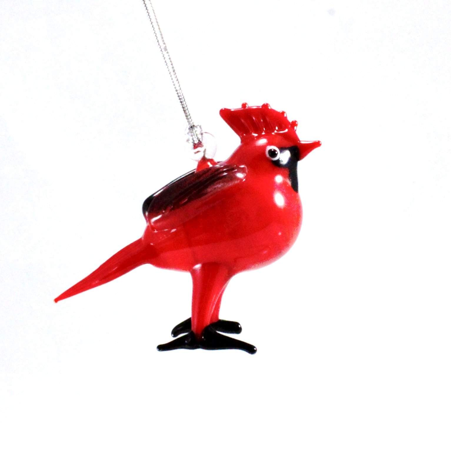 Red Cardinal Ornament - Lake Superior Art Glass