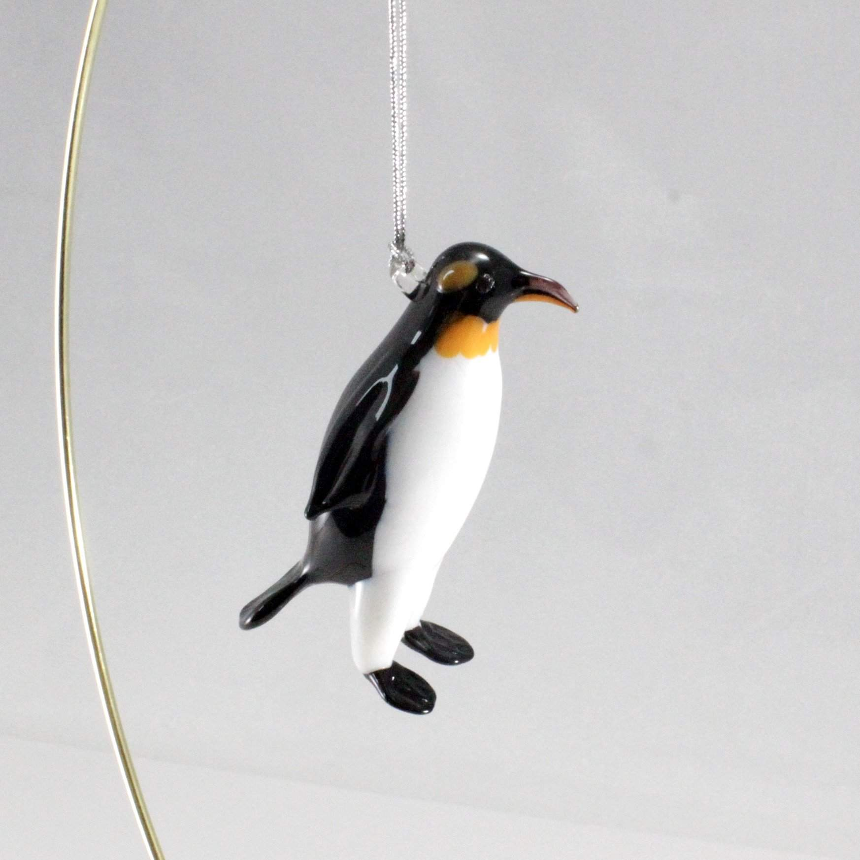 King Penguin Ornament - Lake Superior Art Glass