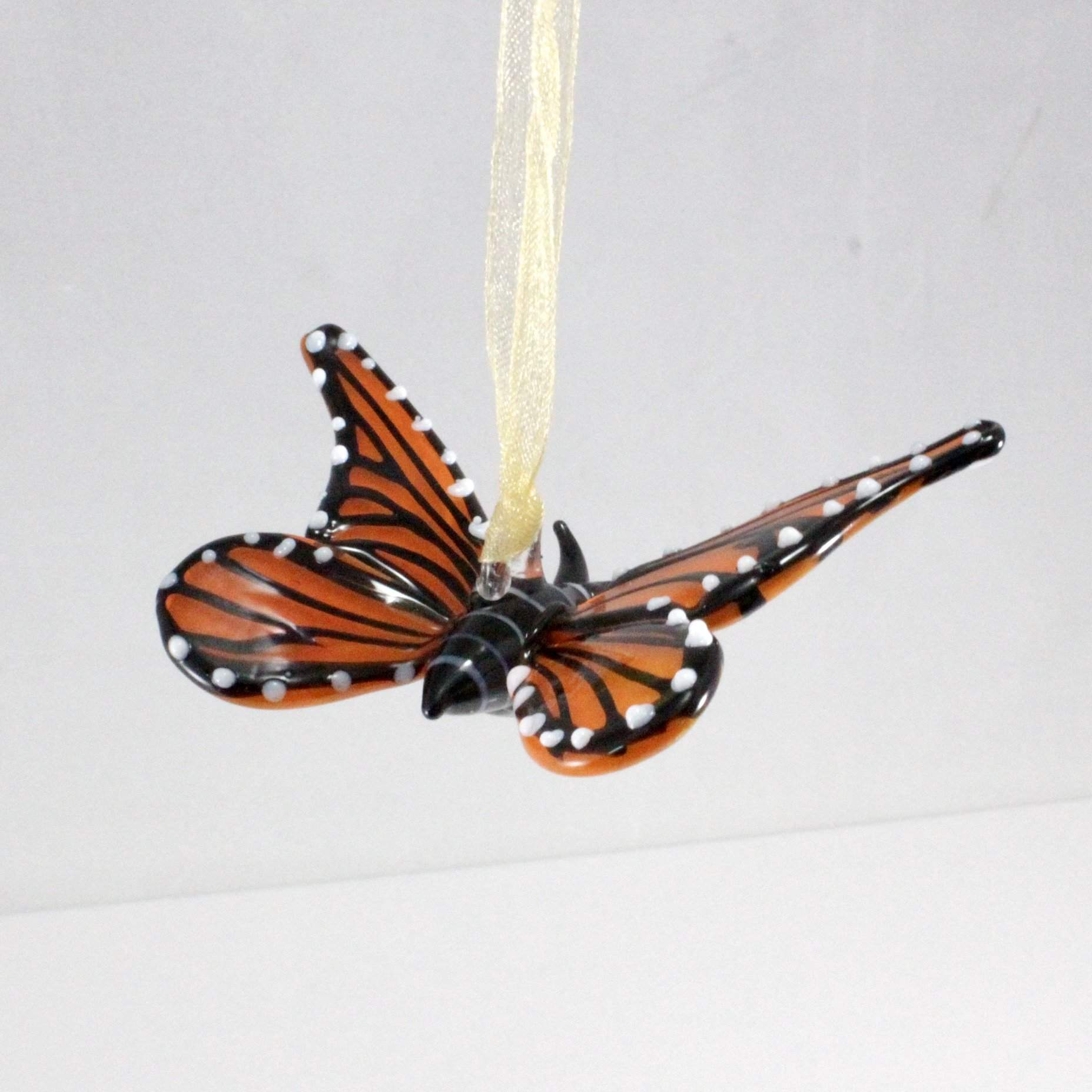 Monarch Butterfly Ornament - Lake Superior Art Glass