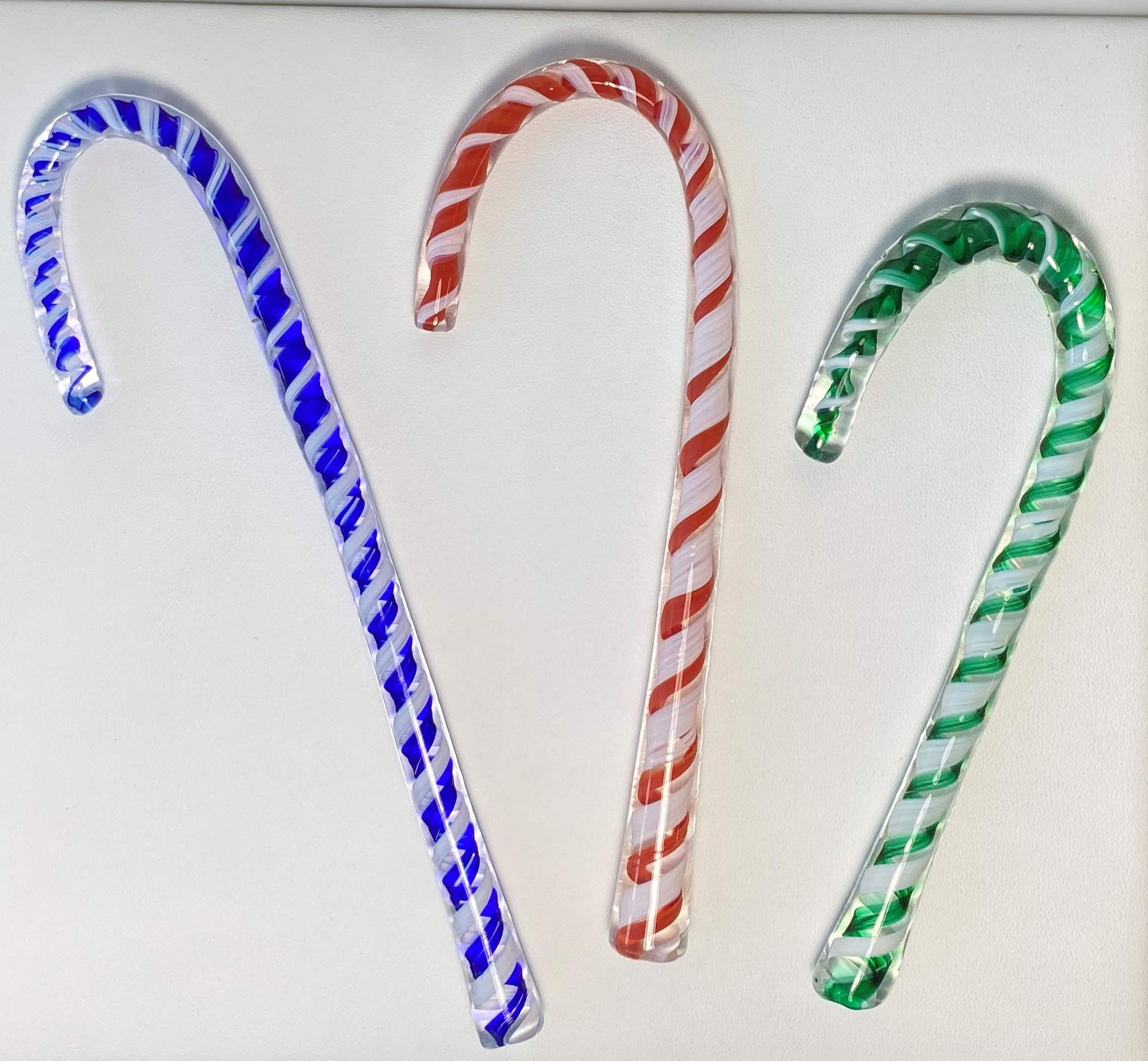 Optic Glass Candy Canes - Lake Superior Art Glass