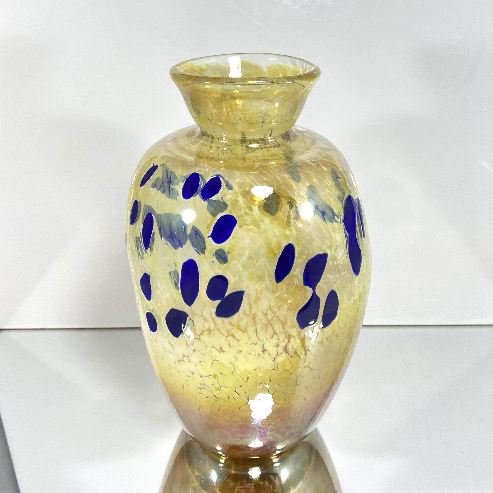 Gold and Navy Vase