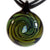Signature Pendant with Opal (Round) - Lake Superior Art Glass