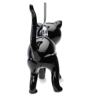 Tux Cat Ornament - Lake Superior Art Glass