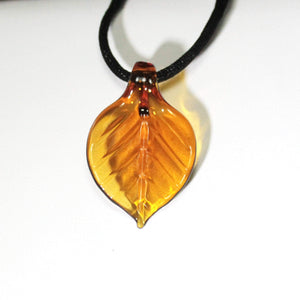 Leaf Pendant - Lake Superior Art Glass