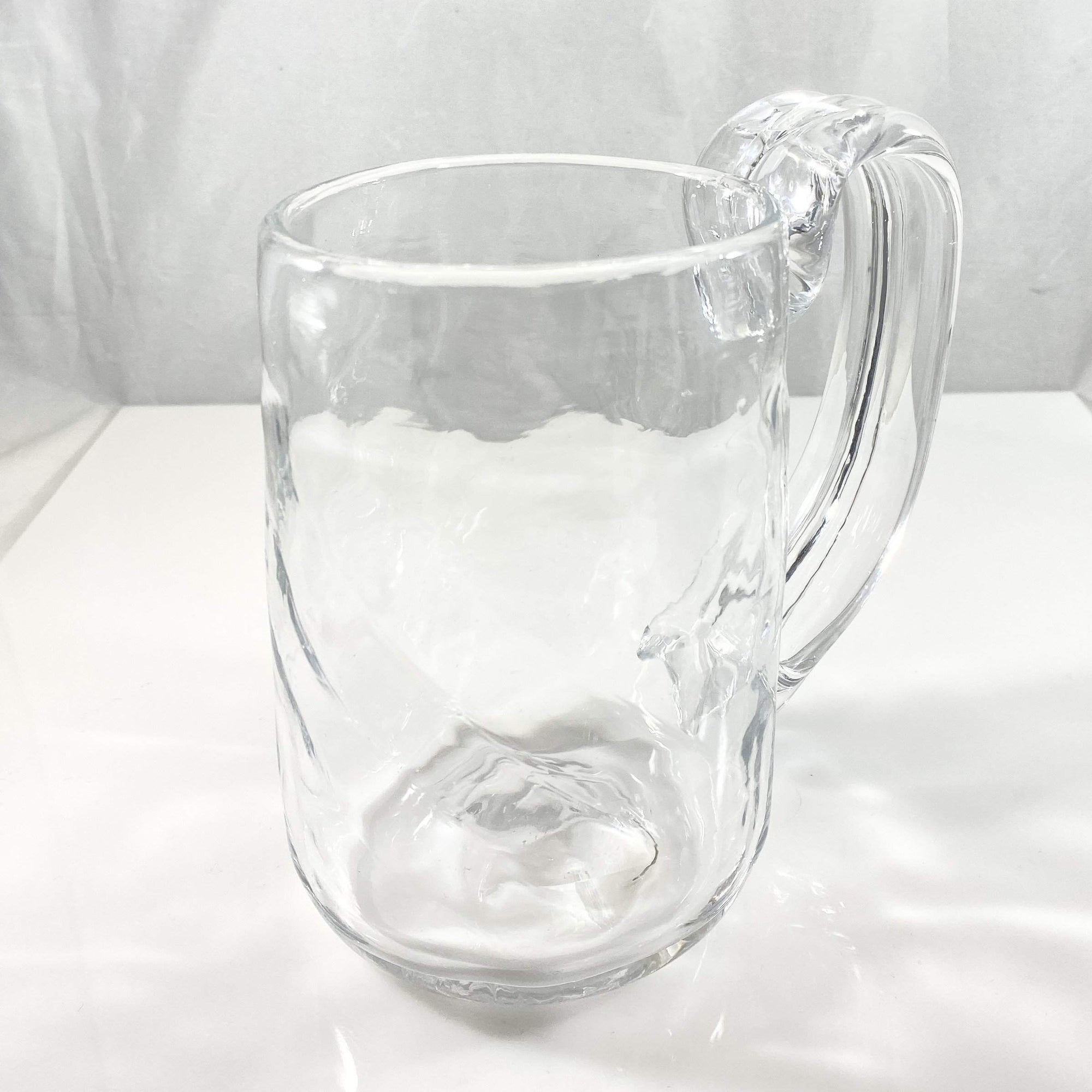 Clear Blown Glass Mug