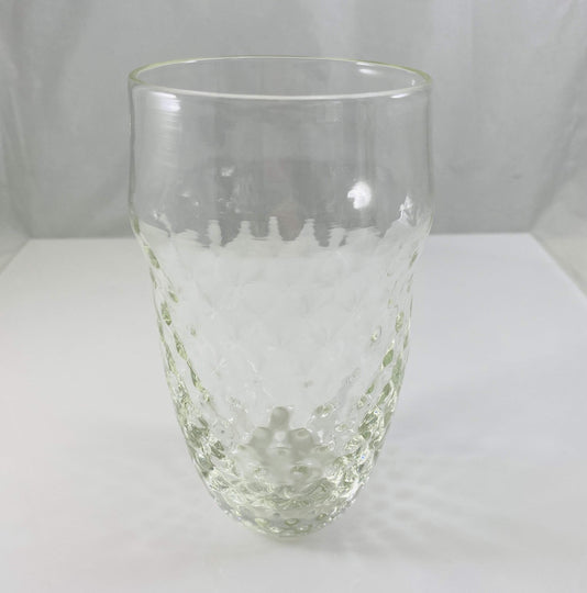 Clear Blown Glass with Pineapple optics