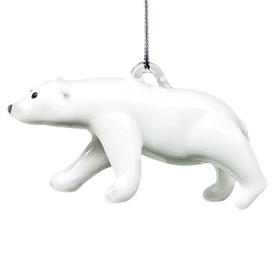 Polar Bear Ornament - Lake Superior Art Glass