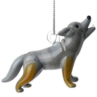 Wolf Ornament - Lake Superior Art Glass