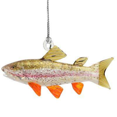 Rainbow Trout Ornament - Lake Superior Art Glass