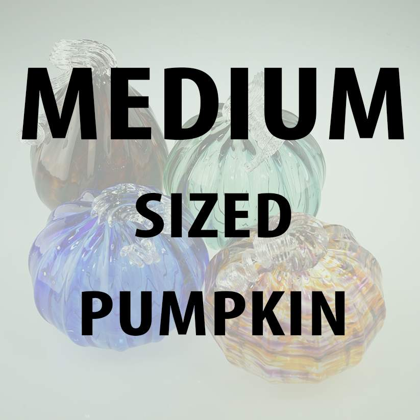 MEDIUM size pumpkin - Design Your Own Pumpkin - Lake Superior Art Glass