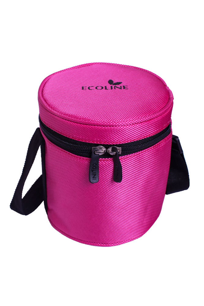 Ecoline Ezee Lunch V3 Stainless Steel Lunch Box with Leak-free Lids & Fabric Pouch