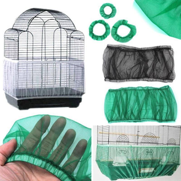 Mesh Bird Cage Cover Shell Skirt Net Easy Cleaning