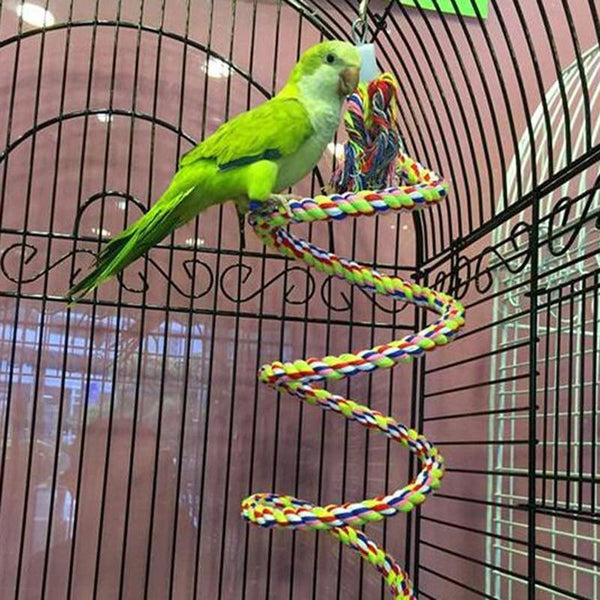 Parrot Rope Hanging Braided Budgie Chew