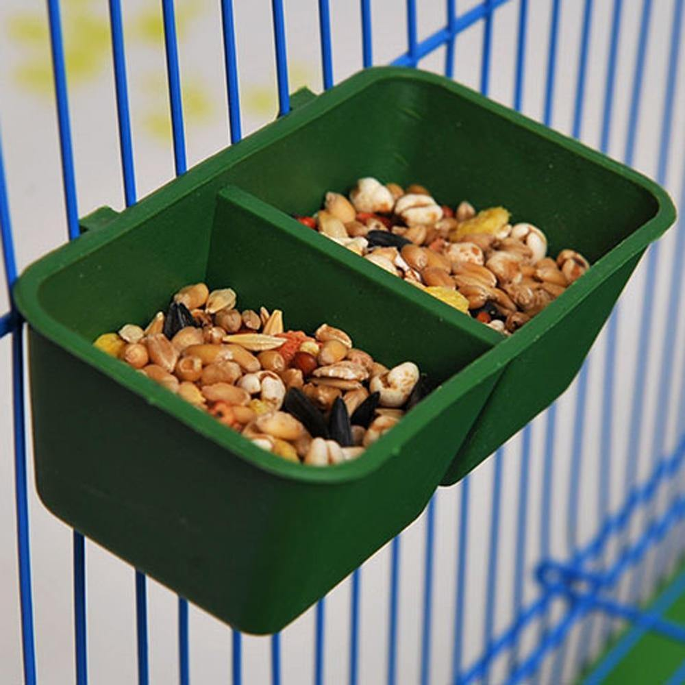 Double Groove Bird Feeder Food Tray