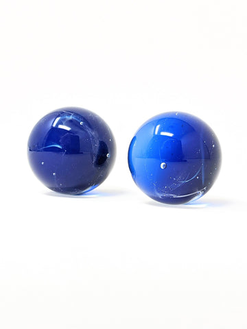 set of cobalt blue marbles