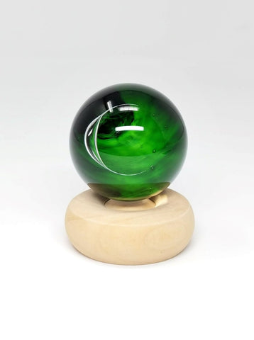 Green emerald glass marble, Wizard of Oz Emerald City