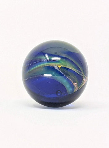 Silver and gold fumed marble, spacey effect