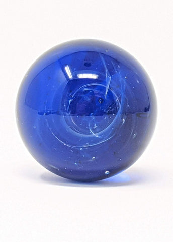 blue silver vortex glass marble