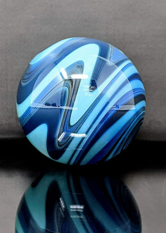 "Deep Blue Wigwag Marble (1.2""/30mm)"