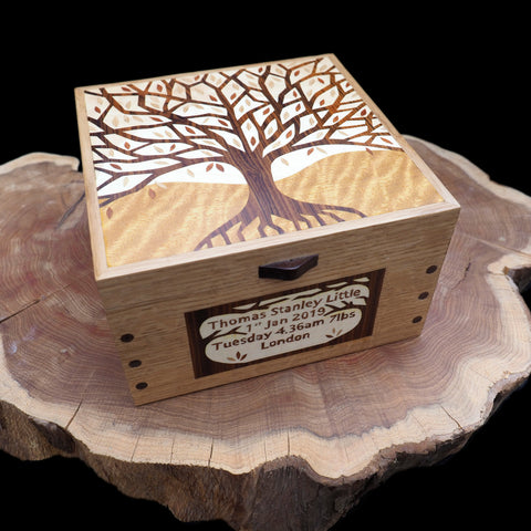commissioned christening box