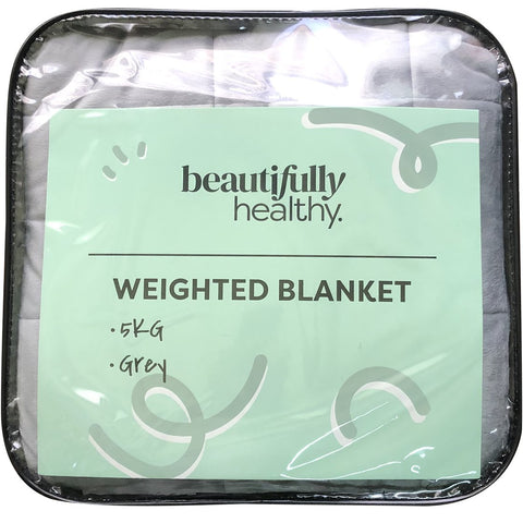 Beautifully Healthy Weighted Blanket 5 kg - Grey