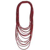 Frank Ideas Necklace, Spaghetti Multi-Strand, Red