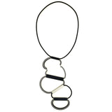 Christina Brampti Necklace, Asymmetrical, Black/White