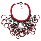 Christina Brampti Necklace, Chunky, Red/Black