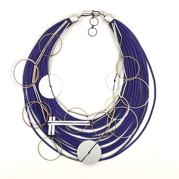 Christina Brampti Necklace, Multi-Cord, Blue