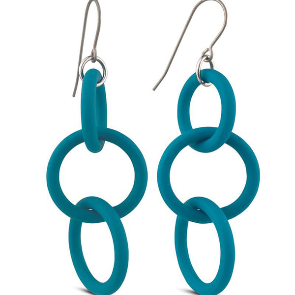 Frank Ideas Earrings, Chain, Turquoise