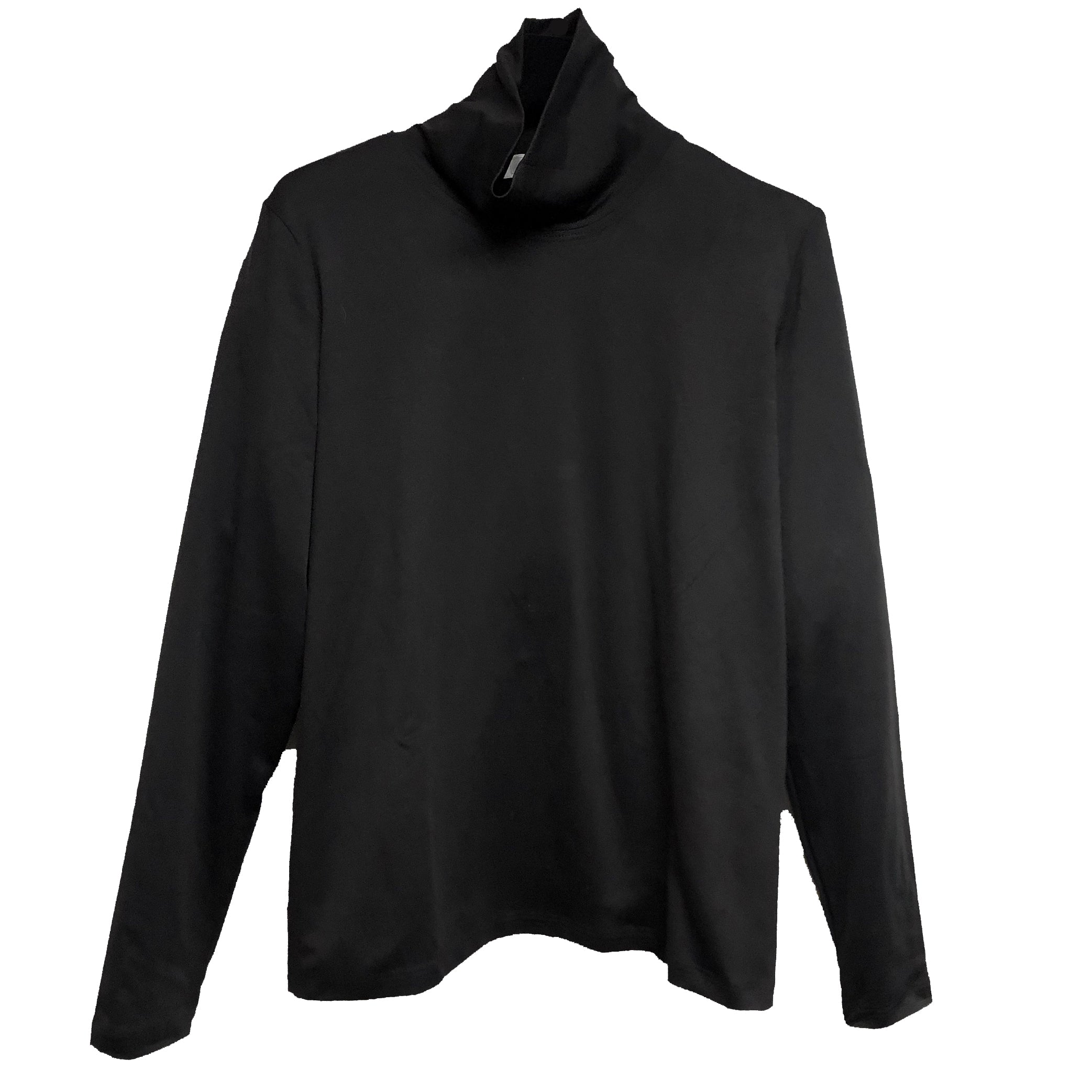 A'Nue Shirt, Turtleneck, Black