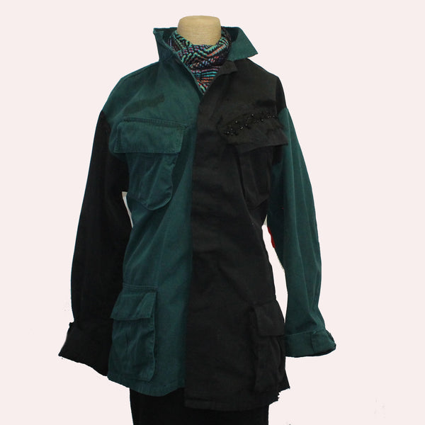 Catherine Bacon Jacket, Black/Green, L