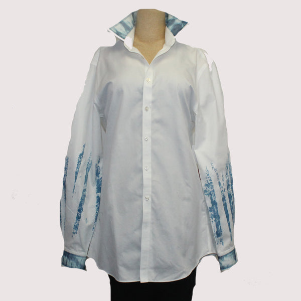 Catherine Bacon Shirt, White/Blue, S