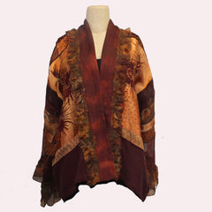 Catherine Bacon Kimono, Sunset, Bordeaux/Copper, OS
