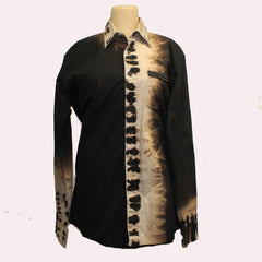 Catherine Bacon, Reimagined Shirt, Black/Brown, M
