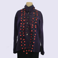 Deborah Cross Shirt, Dart, Plum, XS
