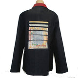 Deborah Cross Wool Jacket, Denim, M/L