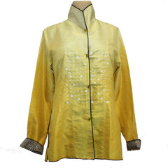 Deborah Cross Shirt, Dart, Lemon, XS