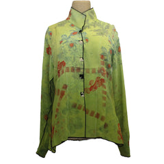 Deborah Cross Shirt, Dart, Lime/Persimmon, XS