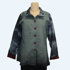 Deborah Cross Shirt, Green/Blue, S