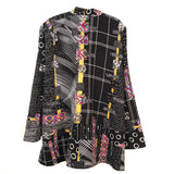 Diane Prekup, Jacket, Saturday, B&W/Goldenrod, L